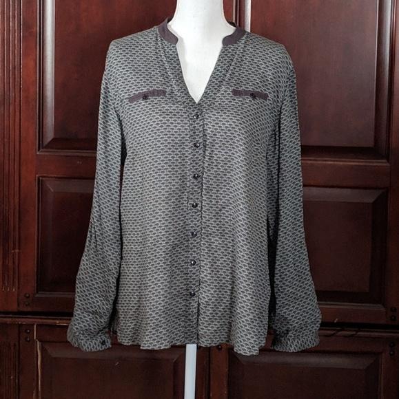Soft Surroundings Tops - Soft Surroundings Button Front Print Top Size M